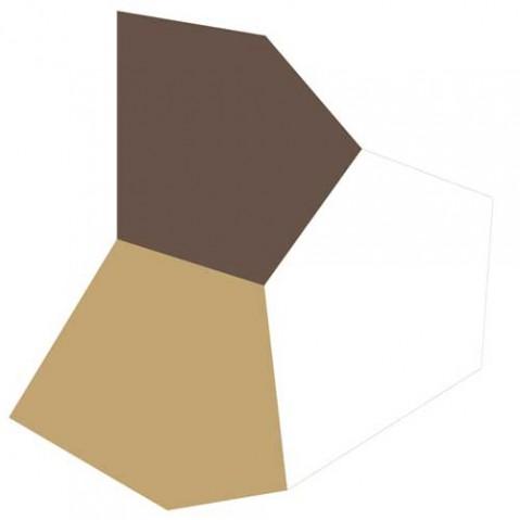 tapis faz vondom marron dore blanc