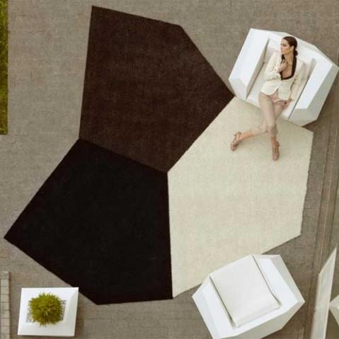 tapis faz vondom gris noir blanc