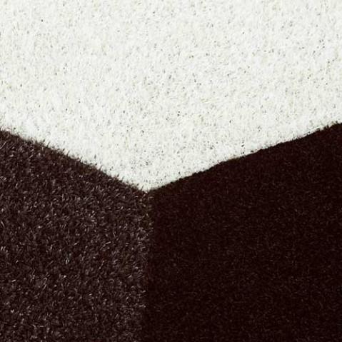 tapis faz vondom marron noir blanc