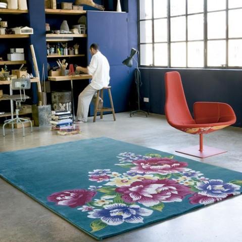 tapis formosa 200 nanimarquina bleu