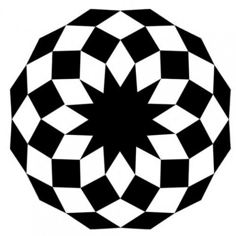 tapis marquis 200 vondom noir blanc