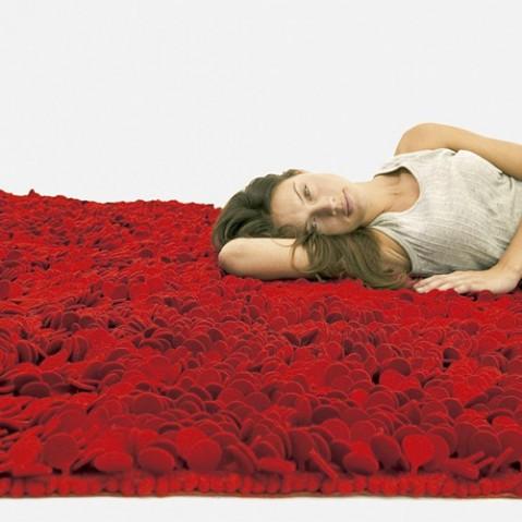 tapis roses 200 nanimarquina marron