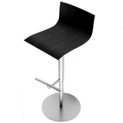Thin Tabouret Haut Design La Palma Noir