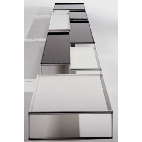 Trays Table Basse 80 x 40 cm Design Kartell Noir