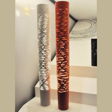 Tress Grande Lampadaire Design Foscarini Blanc
