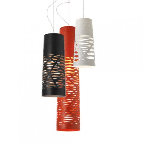 Tress mini suspension foscarini noir