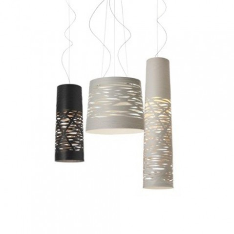 Tress Grande Suspension Foscarini Noir