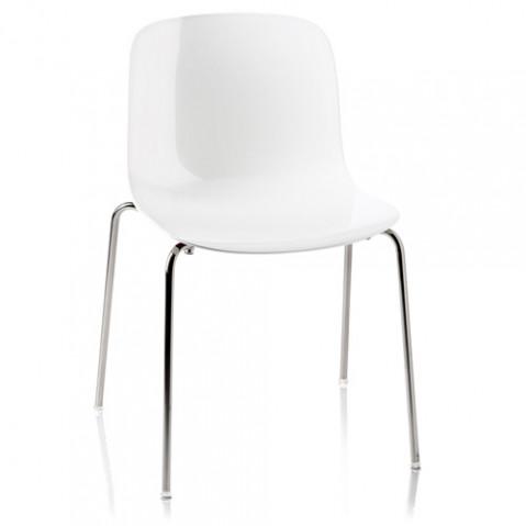chaise troy polypropylene magis blanc