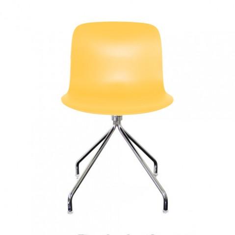 chaise troy etoile magis chrome jaune