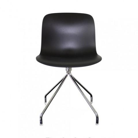 chaise troy etoile magis chrome noir