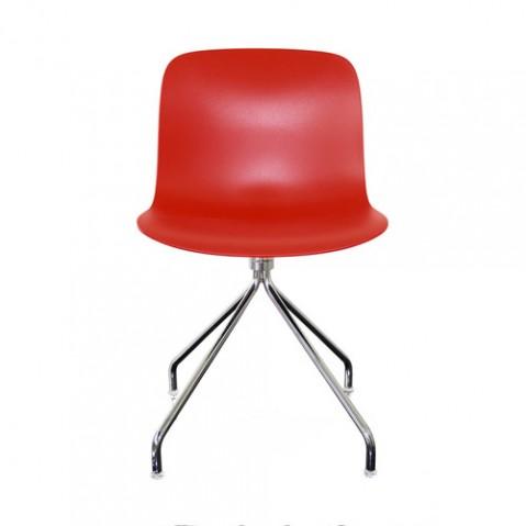 chaise troy etoile magis chrome rouge