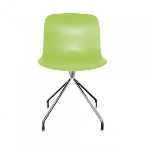 chaise troy etoile magis chrome vert