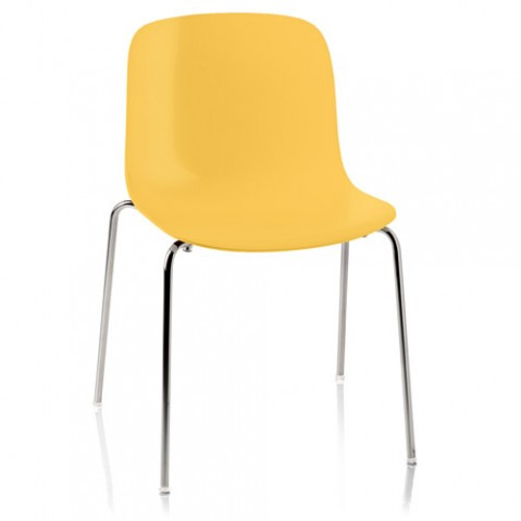 chaise troy polypropylene magis jaune