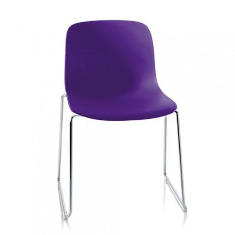 chaise troy luge magis chrome violet