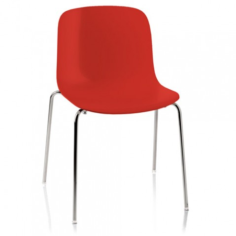 chaise troy polypropylene magis rouge