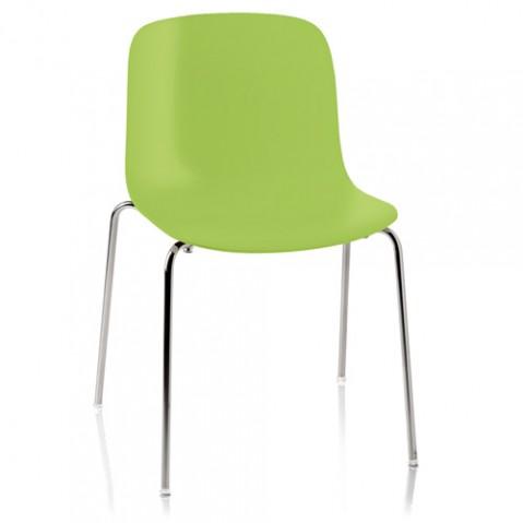 chaise troy polypropylene magis vert