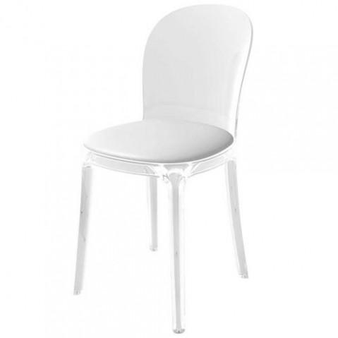 Vanity Chair assise cuir blanc Magis Design
