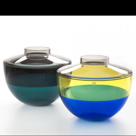 vase shibuya kartell gris jaune bleu