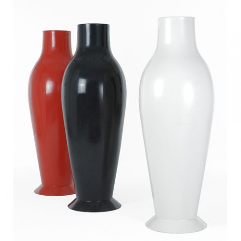 vase miss flower power kartell noir opaque