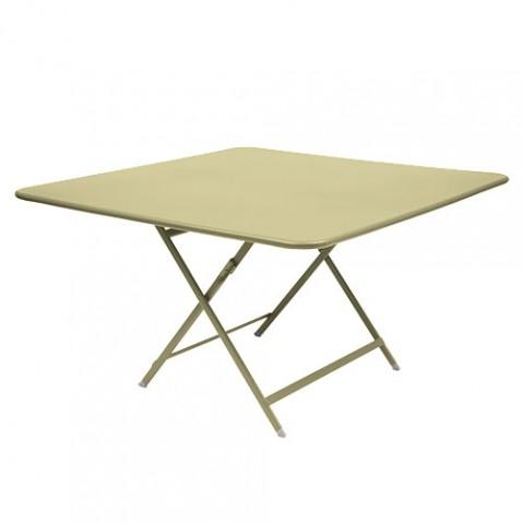 table pliante fermob caractere vert tilleul