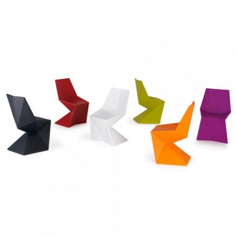 Vertex Silla Chaise Design Vondom Noir