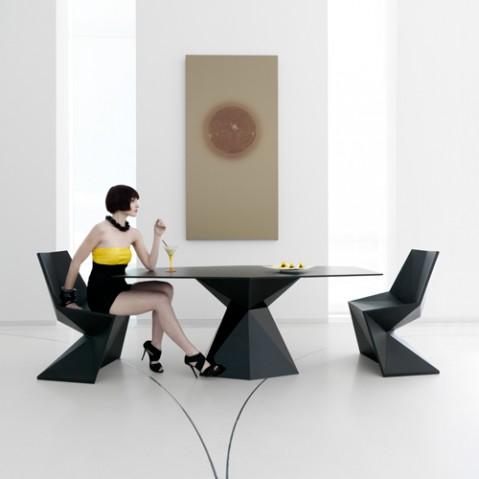Vertex Silla Chaise Design Vondom Orange