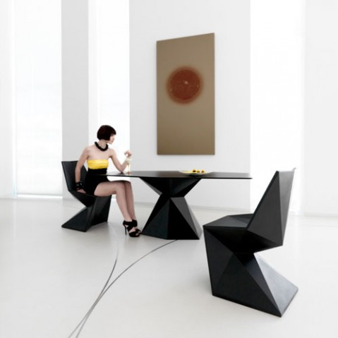 Vertex Table Design Vondom Noir