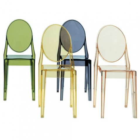 Chaise victoria ghost 7 couleurs de kartell for Chaise victoria ghost