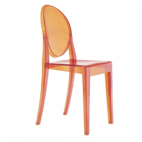 Victoria Ghost Chaise Design Kartell Orange