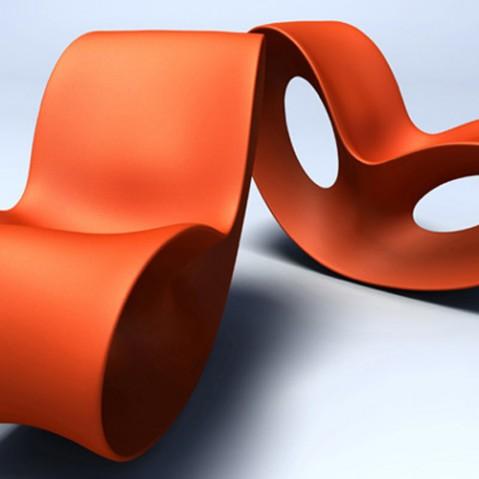 Voido Rocking Chair Magis Orange