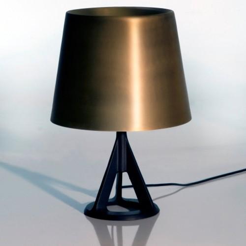 lampe a poser noir et or