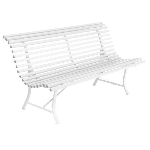 banc louisiane 150 cm blanc de fermob. Black Bedroom Furniture Sets. Home Design Ideas