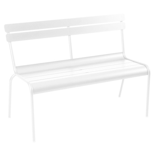banc 2 3places luxembourg blanc coton de fermob. Black Bedroom Furniture Sets. Home Design Ideas