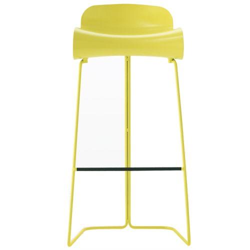 Bcn haut tabouret hauteur 76 cm jaune de kristalia - Tabouret de bar jaune ...