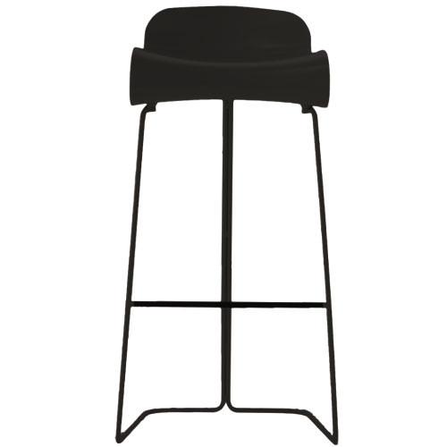 Bcn haut tabouret hauteur 76 cm noir de kristalia for Haut tabouret de cuisine