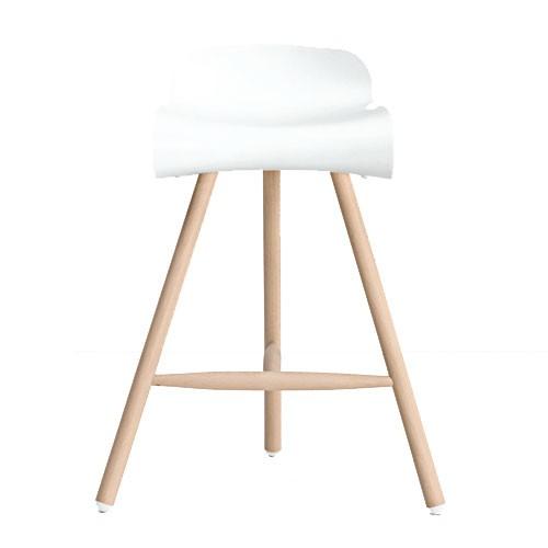 bcn wood tabouret blanc de kristalia. Black Bedroom Furniture Sets. Home Design Ideas