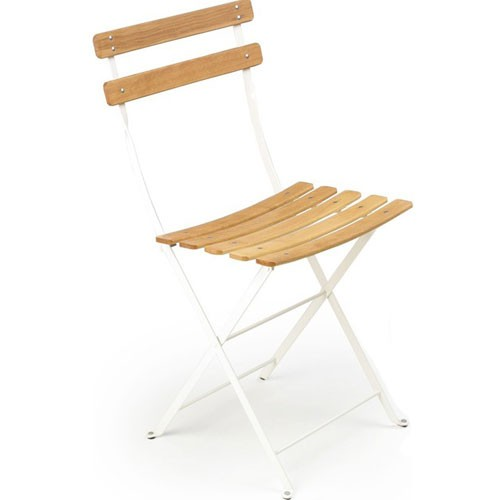 chaise bistro naturel blanc coton hetre naturel de fermob. Black Bedroom Furniture Sets. Home Design Ideas