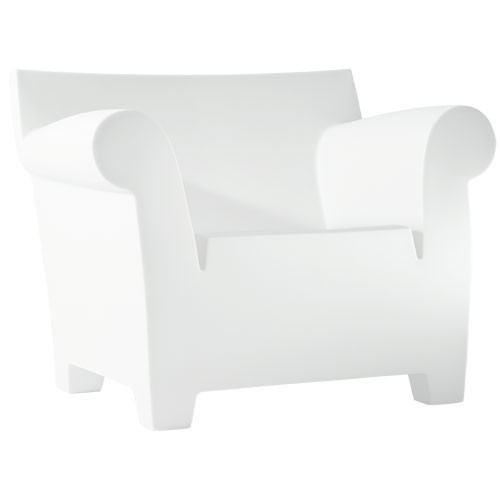fauteuil bubble club blanc zinc de kartell. Black Bedroom Furniture Sets. Home Design Ideas