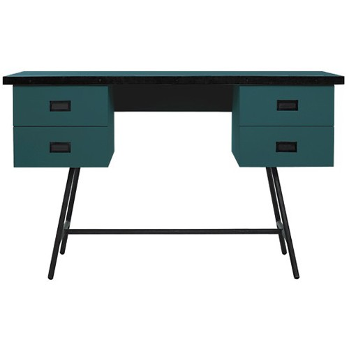 l50 xl bureau bleu canard de laurette. Black Bedroom Furniture Sets. Home Design Ideas