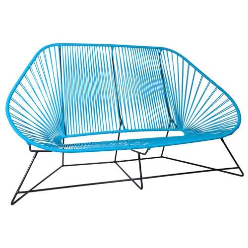 canape acapulco bleu ciel de boqa. Black Bedroom Furniture Sets. Home Design Ideas