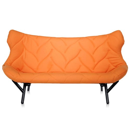 canape foliage 3 places blanc drap de laine orange de. Black Bedroom Furniture Sets. Home Design Ideas