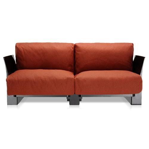 canape pop outdoor new 2 places structure noire assise orange de kartell. Black Bedroom Furniture Sets. Home Design Ideas