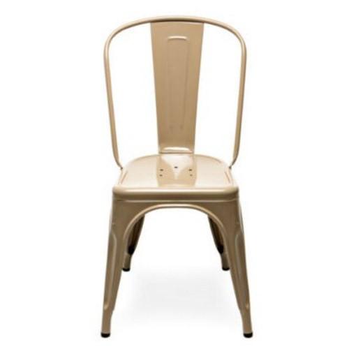 chaise a laque muscade ral 1019 de tolix. Black Bedroom Furniture Sets. Home Design Ideas