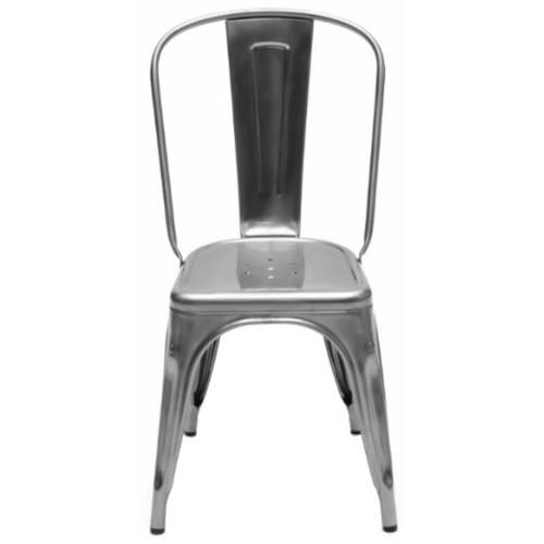 Chaise de jardin chaise a inox acier brut brillant verni for Chaise inox
