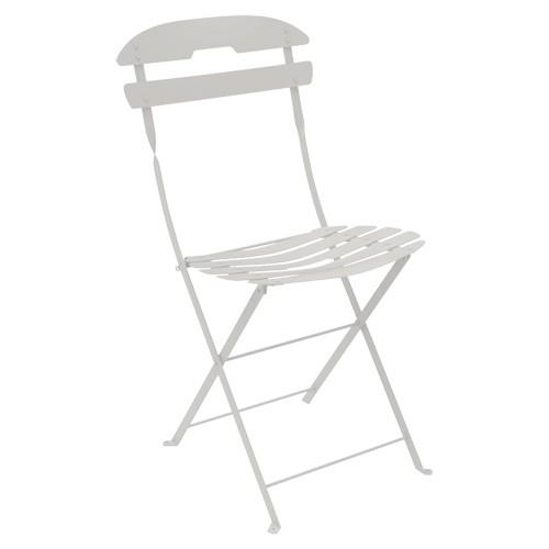 chaise pliante la mome gris m tal de fermob. Black Bedroom Furniture Sets. Home Design Ideas