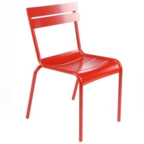 chaise luxembourg coquelicot de fermob. Black Bedroom Furniture Sets. Home Design Ideas