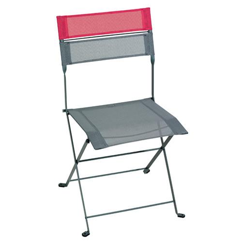 chaise pliante latitude gris orage et fuchsia de fermob. Black Bedroom Furniture Sets. Home Design Ideas