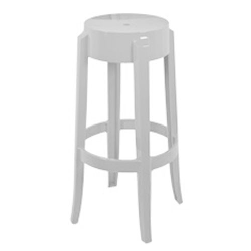 Tabouret Charles Ghost H75cm Opaque Blanc De Kartell