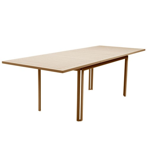 Table a allonge costa muscade de fermob for Table extensible fermob