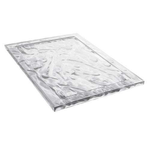 Plateau dune 46x32 cm cristal de kartell for Kartell lampe replica